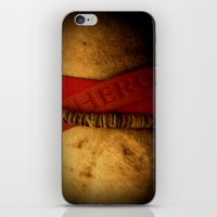 hero iPhone & iPod Skins featuring HERO by Andy Burgess