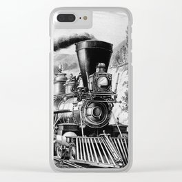 The Express Train 1870 Clear iPhone Case