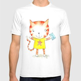 Ginger kitten watercolour T-shirt