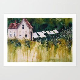 old homestead Art Print