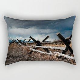 Storm & Fence Rectangular Pillow