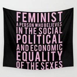 DEFINITION OF FEMINIST Wall Tapestry