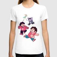 steven universe T-shirts featuring Steven Universe- Steven Tag by merrigel
