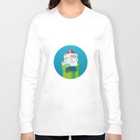 super mario Long Sleeve T-shirts featuring Mario by Altay