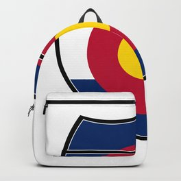 Colorado Flag In An Interstate Sign Backpack
