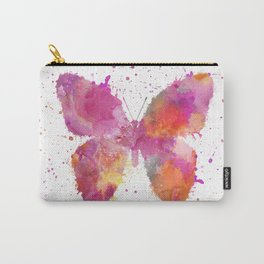 Artsy Butterfly colorful watercolor art Carry-All Pouch