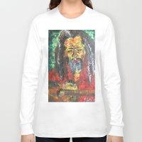 rasta Long Sleeve T-shirts featuring Rasta Man by sladja