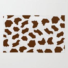 Brown Cow Spots Pattern Rug