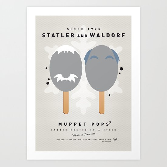 My MUPPET ICE POP - Statler and Waldorf Art Print
