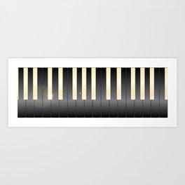 White And Black Piano Keys Art Print