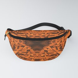 Orange kaleidoscope star pattern Fanny Pack