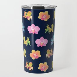 Orchid mantis - Dark Travel Mug