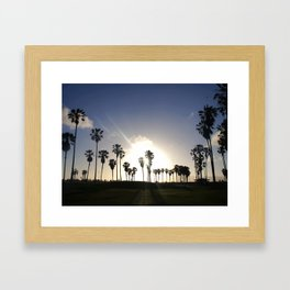 Sunset in Venice Beach Framed Art Print
