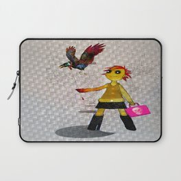 Miss Bella and Archibald his crow Laptop Sleeve