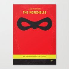 No368 My Incredibles minimal movie poster Canvas Print