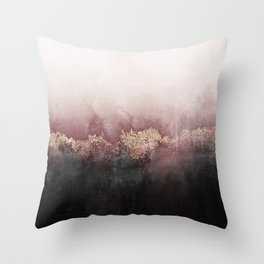 Pink Sky Throw Pillow