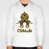 return Hoodies featuring Cthulhu return by Enrique Valles