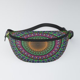 Hypnotic Church Window Mandala Fanny Pack