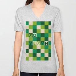 Go vegan (green life) Unisex V-Neck