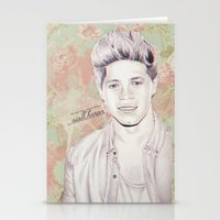niall horan Stationery Cards featuring Niall Horan by vanessa