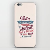 paper towns iPhone & iPod Skins featuring Paper Towns: Treacherous Thing by Risa Rodil