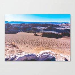 Valle de la Luna (Moon Valley) in San Pedro de Atacama, Chile Canvas Print