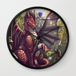 Mending the Dragon Wall Clock