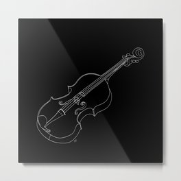 Violin in lines Metal Print