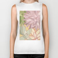 succulents Biker Tanks featuring Succulents by Julia Walters Illustration