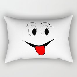 Funny face - black and red. Rectangular Pillow