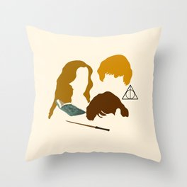 Wizard Trio Throw Pillow
