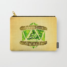 D20 Adventure Awaits Watercolor Nature's Path Carry-All Pouch