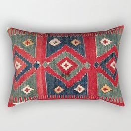 Yüncü  Antique Balikesir Turkish Kilim Rectangular Pillow