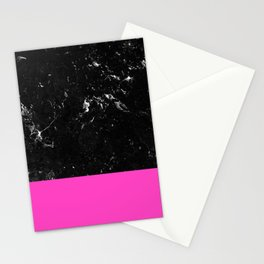 Pink Meets Black Marble #1 #decor #art #society6 Stationery Cards