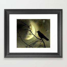 Crow Moon Framed Art Print