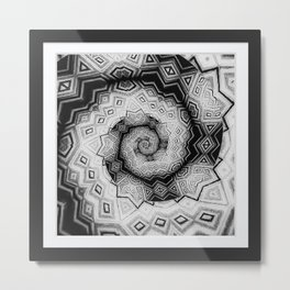 Madhouse Thought Spirals Metal Print