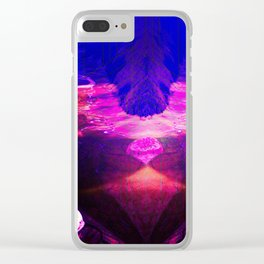Down by the river pink Clear iPhone Case