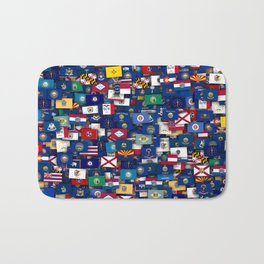 Flags of all US states Bath Mat