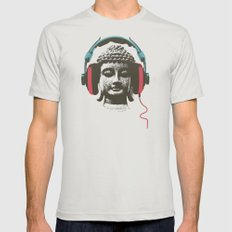 Enjoy Music Mens Fitted Tee Silver LARGE