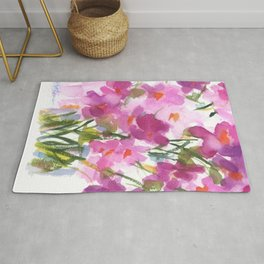 Pink Cosmos Bouquet Rug