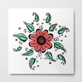 Flower symbiosis Metal Print