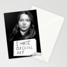 I Hate Classical Art Stationery Cards