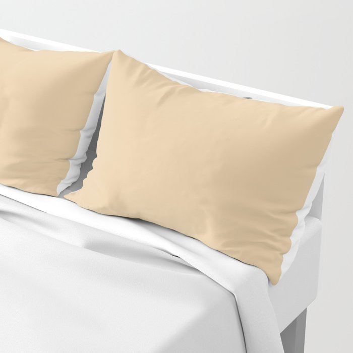 From The Crayon Box – Gold Brown Solid Color Pillow Sham