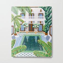 Moroccan Oasis Metal Print