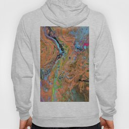 Fluid Copper - Abstract, original, fluid, acrylic painting Hoody