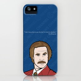 Ron Burgundy Anchorman  iPhone Case