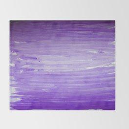 Purple Ombre Stripes Throw Blanket