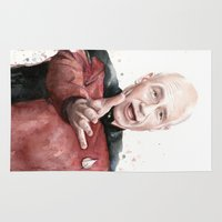picard Area & Throw Rugs featuring Annoyed Picard Meme  by Olechka