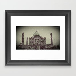 Taj chrome Framed Art Print