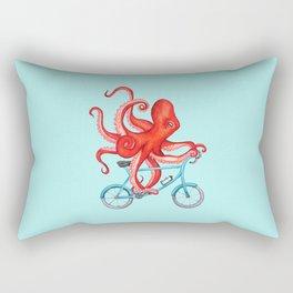 Cycling octopus Rectangular Pillow